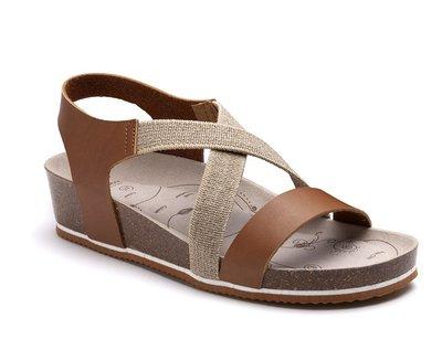 Suecos sandalen Syren Cognac